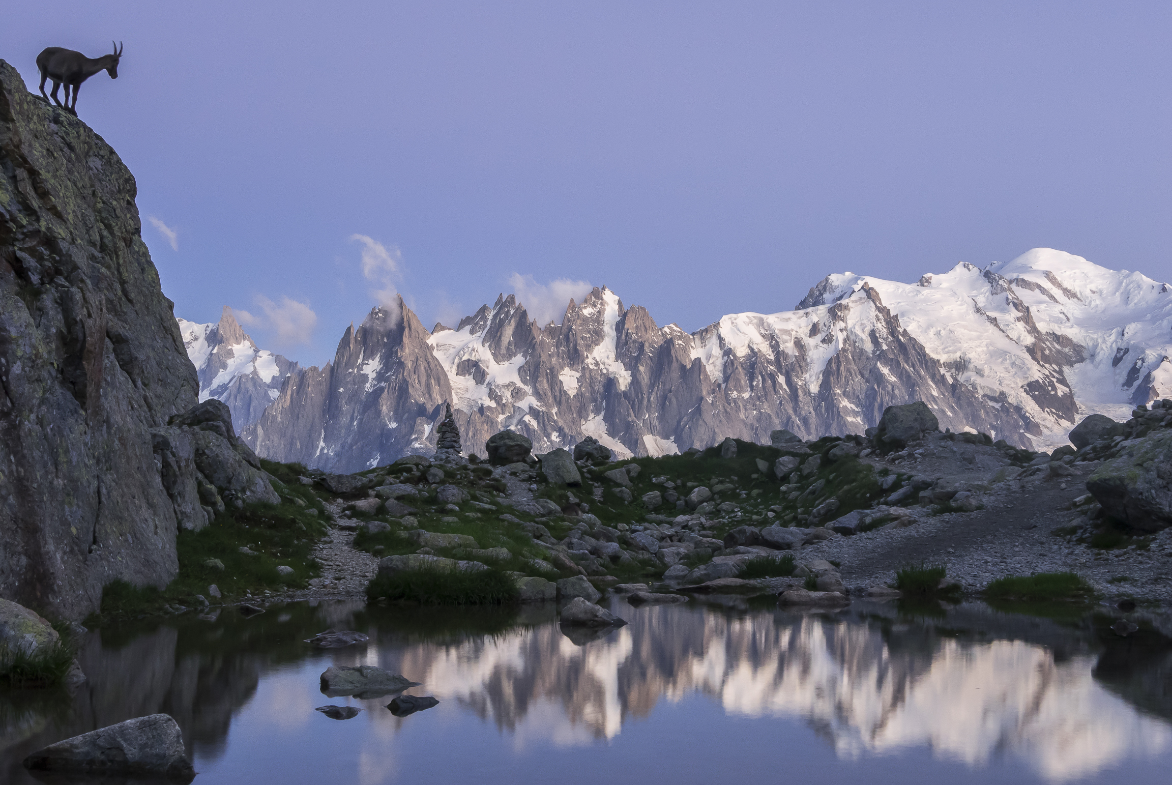 Heure bleue sur le Mont-Blanc